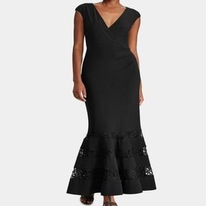 Lauren Ralph Lauren Black Evening Lace Dress NWT 4